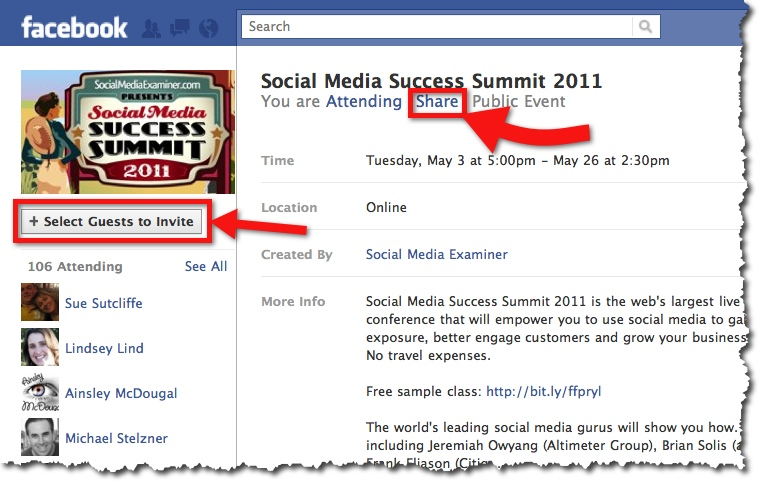 Six Ways To Effectively Promote Events on Facebook - Case Study